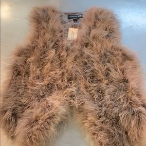 NWT Forever 21 Feather vest